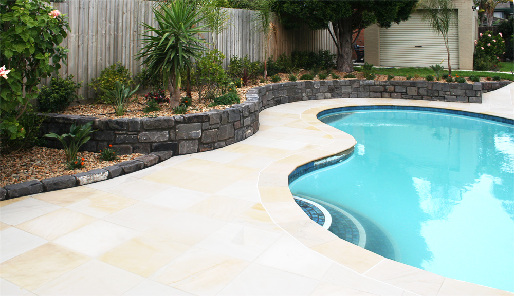 Pool redevelopment ingardens landscaping melbourne for Pool garden edging