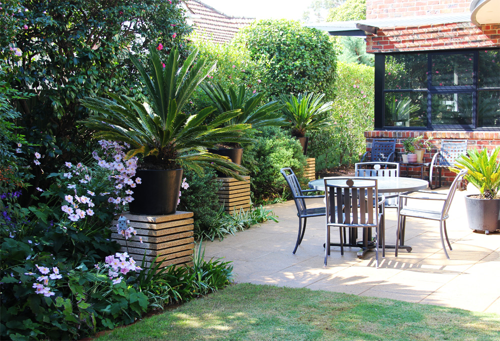 Art deco garden design ingardens landscaping melbourne for Garden design graphics