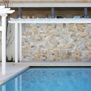 Rejuvenated pool and feature wall.